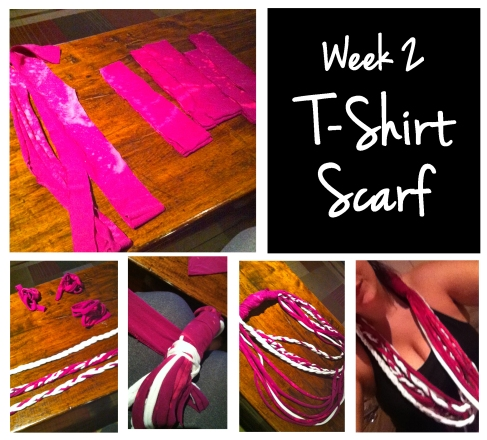 Week 2- TShirt Scarf